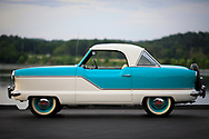 HF13_r120 1957 Nash Metropolitan Coupe for R.M. Auctions &copy; Dan Henry / BiciPhoto.com<br /> <br /> Owner:  Mark S. Grimsley MD | 423-316-3798