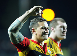 Chiefs Sonny Bill Williams acknowledges the crowd after the defeat over the Crusaders in the Super 15 Rugby semi final match, Waikato Stadium, New Zealand, Friday, July 27, 2012. Credit:SNPA / Ross Setford
