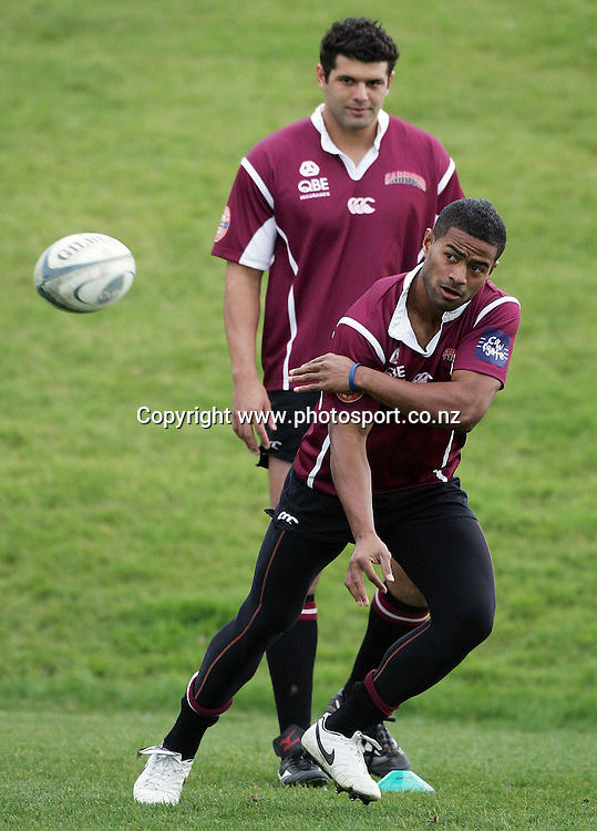 Viliame Waqseduadua during North Harbour rugby training at the Marist Club grounds, North Shore, New Zealand on Wednesday 30 August, 2006. Photo: Hannah Johnston/PHOTOSPORT<br />