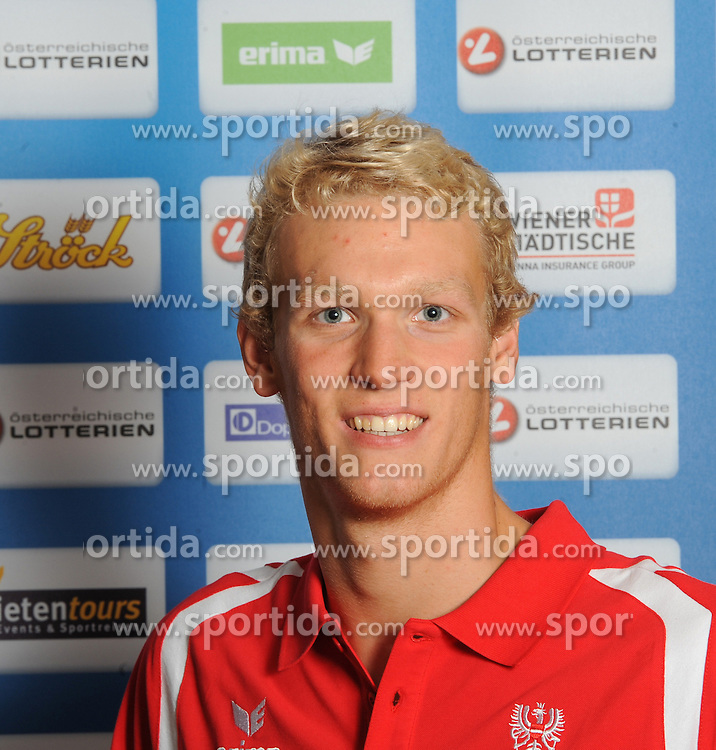 17.07.2016, Hotel Mariott, Wien, AUT, Olympia, Rio 2016, Einkleidung OeOC, im Bild Auboeck Felix (Schwimmen) // during the outfitting of the Austrian National Olympic Committee for Rio 2016 at the Hotel Mariott in Wien, Austria on 2016/07/17. EXPA Pictures © 2016, PhotoCredit: EXPA/ Erich Spiess