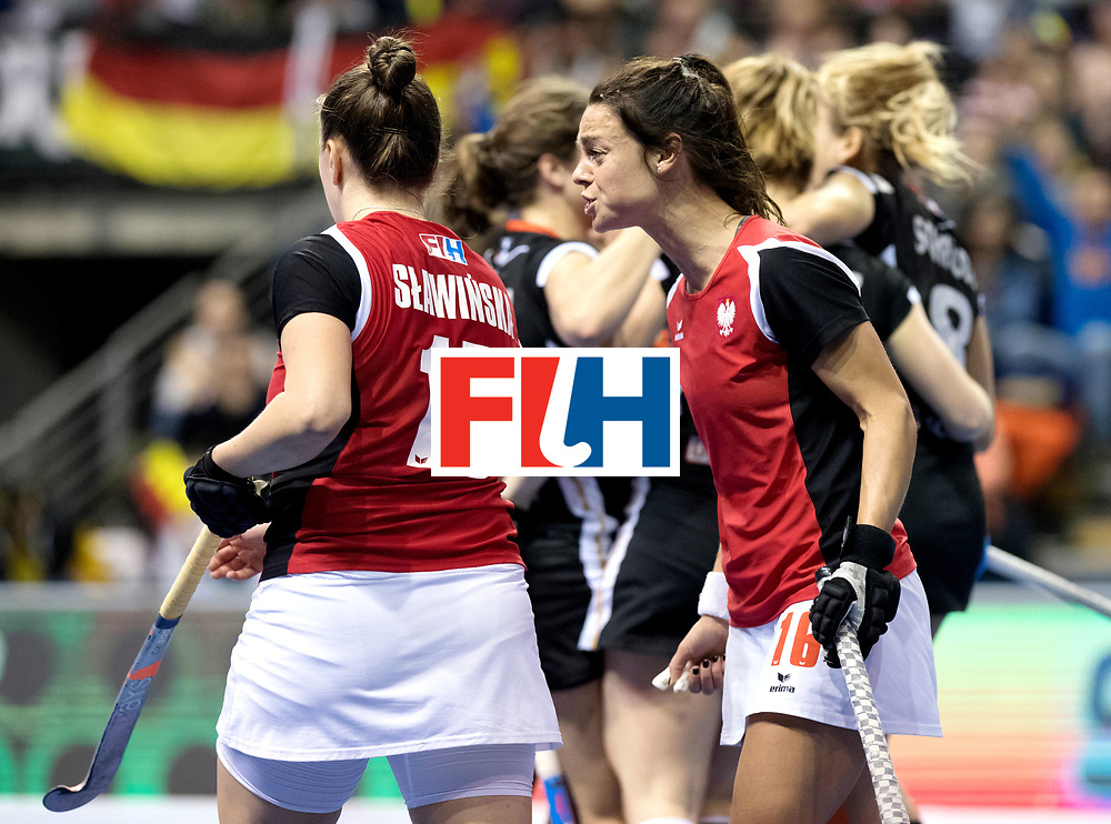 BERLIN - Indoor Hockey World Cup<br /> Quarterfinal 3: Germany - Poland<br /> foto: Merlena Rybacha angry.<br /> WORLDSPORTPICS COPYRIGHT FRANK UIJLENBROEK