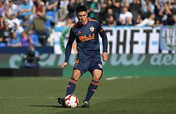 February 24, 2019 - Leganes, Madrid, Spain - Roncaglia of Valencia in action during La Liga Spanish championship, football match between Leganes and Valencia, February 24th, Butarque stadium, in Leganes, Madrid, Spain. (Credit Image: © AFP7 via ZUMA Wire)
