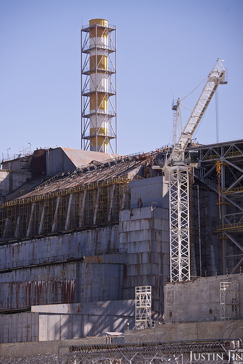 The decommissioned Chernobyl power station reactor number 4. <br /> <br /> 30 years on, the plant is still heavily contaminated, unfit for human life. <br /> <br /> The Chernobyl nuclear disaster happened on 26 April 1986. The ferris wheel was scheduled to be unveiled a few days after the disaster, but was never used.