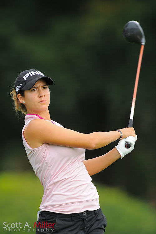 Azahara Munoz during the first round of the CME Group Titleholders at Grand Cypress Resort on Nov. 17, 2011 in Orlando, Fla.  ..©2011 Scott A. Miller