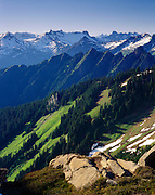 View North from Sibley Pass, North Cascades National Park Washington USA