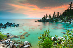 """Secret Cove Sunset 8"" - Sunset photograph taken at Secret Cove, Lake Tahoe."