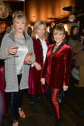 Left to right, PATTIE BOYD, ADRIANNE COOK and EDINA RONAY  at a party to celebrate the Astley Clarke & Theirworld Charitable Partnership held at Mondrian London, Upper Ground, London on 10th March 2015.