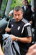 Fulham head coach, Slavisa Jokanovic exiting the coach during the Pre-Season Friendly match between Fulham and Crystal Palace at Craven Cottage, London, England on 30 July 2016. Photo by Matthew Redman.