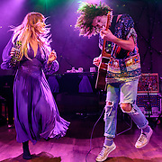 "WASHINGTON, DC - October 10th, 2013 - Hannah Hooper and Christian Zucconi of Grouplove perform at The Hamilton in Washington, D.C. The band's 2011 hit ""Tongue Tied"" sold over 1 million copies, was featured in an iPod Touch commercial and was covered on the TV show Glee. (Photo by Kyle Gustafson / For The Washington Post)"