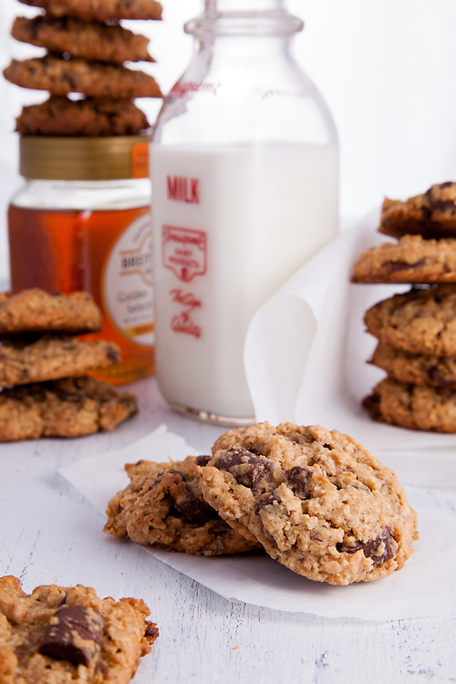 Oatmeal Ginger Chocolate Chunk Cookies by St. Louis Photographer Jonathan Gayman