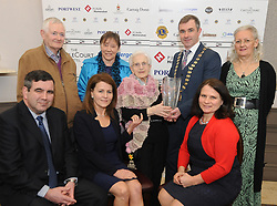 Madeline Jordan accecpting her Westport Lions club Clew Bay People of the Year Awards.<br /> Pic Conor McKeown