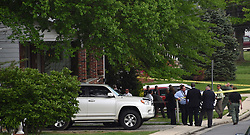 May 2, 2019 - Parkville, Md, USA - Baltimore County police continue to investigate the incident in the 3000 block of Linwood Avenue that left a Baltimore County police officer injured and one man dead on Thursday, May 2, 2019 in Parkville, Md. The officer, taken to Shock Trauma, was responding to a report of a person with a gun in a home. (Credit Image: © TNS via ZUMA Wire)