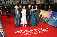 Tom Courtenay, Michiel Huisman, Lily James, Mike Newell, Jessica Brown Findlay, Glen Powell, The Guernsey Literary and Potato Peel Pie Society - World Premiere, Curzon Mayfair, London UK, 09 April 2018, Photo by Richard Goldschmidt