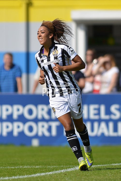 Notts County Ladies forward Jess Clarke during the FA Women's Super League match between Chelsea Ladies FC and Notts County Ladies FC at Staines Town FC, Staines, United Kingdom on 6 September 2015. Photo by Mark Davies.
