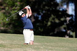 Jimmy Dunne tees off  during the Chick-fil-A Peach Bowl Challenge at the Oconee Golf Course at Reynolds Plantation, Sunday, May 1, 2018, in Greensboro, Georgia. (Paul Abell via Abell Images for Chick-fil-A Peach Bowl Challenge)