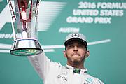 October 23, 2016: United States Grand Prix. Lewis Hamilton (GBR), Mercedes