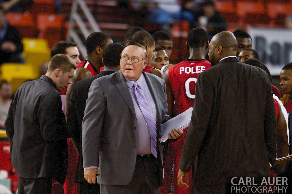 November 27th, 2010:  Anchorage, Alaska - St. John's Special Assistant and NCAA coaching legend Gene Keady during a time out in the Red Storm's 67-58 victory against the Arizona State Sun Devil's to win the championship game of the Great Alaska Shootout.