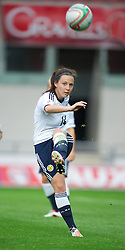 LLANELLI, WALES - Saturday, September 15, 2012: Scotland's Rachel Corsie in action against Wales during the UEFA Women's Euro 2013 Qualifying Group 4 match at Parc y Scarlets. (Pic by David Rawcliffe/Propaganda)