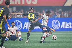 August 1, 2018 - Atlanta, Georgia, United States - Juventus midfielder NICOLÔ FAGIOLI, 44 fights for the ball against MLS All-Star midfielder JONATHAN DOS SANTOS, 4 during the 2018 MLS All-Star Game at Mercedes-Benz Stadium in Atlanta, Georgia.   Juventus F.C. defeats  MLS All-Stars defeat  1 to 1  (Credit Image: © Mark Smith via ZUMA Wire)