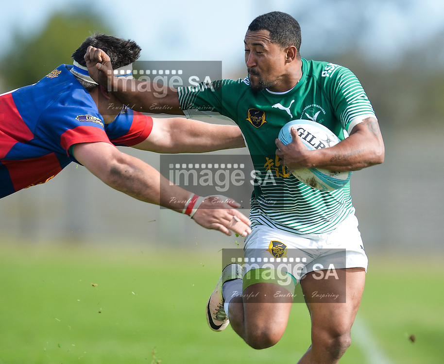 GEORGE, SOUTH AFRICA - SEPTEMBER 24: Clint Miller of RSK Evergreens during the Gold Cup 2016 match between RSK Evergreens and Pirates at Pacaltsdorp Sports Ground on September 24, 2016 in George, South Africa. (Photo by Roger Sedres/Gallo Images)