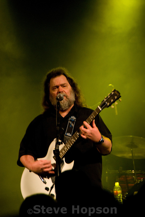 Roky Erickson famed singer of the psychedelic rock pioneers, the 13th Floor Elevators, performs at Stubb's BBQ during South by Southwest music festval, March 15 2008. Erickson performed songs such as Starry Eyes and Two Headed Dog.