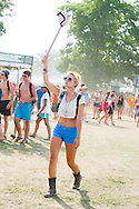 Crop Top and Blue Shorts, Bonnaroo