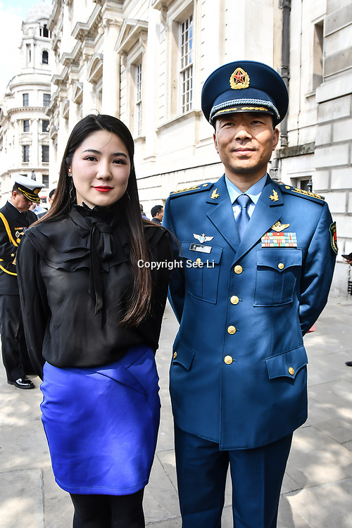 Dai Jin Hua and Ms Qin is from China of the People's Liberation Army, Peacekeepers representative attend International Day of United Nations Peacekeepers - Remembrance Ceremony, on 23 May 2019, London, UK.