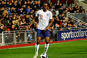 Aaron Wan-Bissaka England U21s (Crystal Palace) during the U21 UEFA EUROPEAN CHAMPIONSHIPS match Scotland vs England at Tynecastle Stadium, Edinburgh, Scotland, Tuesday 16 October 2018.