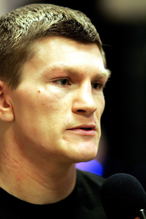 Ricky Hatton is interviewed before the fight by Sky. Ricky Hatton v Floyd Mayweather, Las Vegas, Nevada.