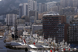 May 23, 2018 - Montecarlo, Monaco - Yachts of Monaco harbour during the Monaco Formula One Grand Prix  at Monaco on 23th of May, 2018 in Montecarlo, Monaco. (Credit Image: © Xavier Bonilla/NurPhoto via ZUMA Press)