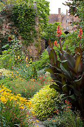 Canna in the Cottage Garden at Sissinghurst Castle
