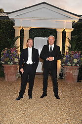 Left to right, GEORDIE GRIEG and ALEXANDER LEBEDEV at the Raisa Gorbachev Foundation Gala held at the Stud House, Hampton Court, Surrey on 22nd September 22 2011