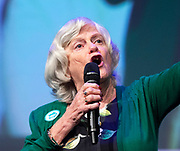 Brexit Party event<br /> Nigel Farage and Ann Widdecombe in Peterborough for a rally with the Brexit Party&rsquo;s Eastern region European election candidates. <br /> at King's Gate Conference Centre, Peterborough, Great Britain <br /> 7th May 2019 <br /> <br /> <br /> Ann Widdecombe<br /> Speaks <br /> <br /> <br /> Photograph by Elliott Franks