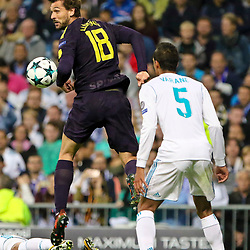 Fernando LLorente of Tottenham Hotspur in action during Uefa Champions League (Group H) match between Real Madrid and Tottenham Hotspur at Santiago Bernabeu Stadium on October 17, 2017 in Madrid  (Spain) (Photo by Luis de la Mata / SportPix.org.uk)