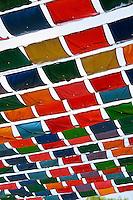 Colorful material sun shield