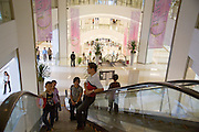 Opening weekend of Siam Paragon shopping center. The escalator.