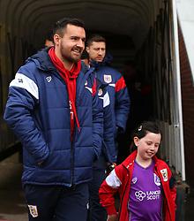 Bailey Wright of Bristol City arrives at Barnsley - Mandatory by-line: Robbie Stephenson/JMP - 30/03/2018 - FOOTBALL - Oakwell Stadium - Barnsley, England - Barnsley v Bristol City - Sky Bet Championship