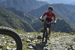 October 3, 2018 - Himachal Pradesh, India - Ole Hem of Norway competes at the 14th edition of the Hero MTB Himalaya mountain bike race in the northern Indian state of Himachal Pradesh on 4th  October, 2018. The 14th edition of the annual cross country race is taking place over eight stages in the foothills of the Himalaya, started in Shimla on September 28, 2018 and finishing in Dharamshala on October 6,2018. (Credit Image: © Indraneel Chowdhury/NurPhoto/ZUMA Press)