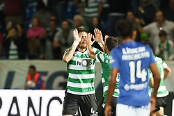 September 8, 2017 - Santa Maria Da Feira, Aveiro, Portugal - Sporting's Uruguayan defender Sebastian Coates (L) celebrates after scoring a goal during the Premier League 2017/18 match between CD Feirense and Sporting CP, at Marcolino de Castro Stadium in Santa Maria da Feira on September 8, 2017. (Credit Image: © Dpi/NurPhoto via ZUMA Press)
