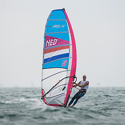 2012 Olympic Games London / Weymouth<br /> RSX man racing day 1<br /> RS:X MenDENFleischer Sebastian