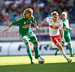 28.08.2011, Red Bull Arena, Salzburg, AUT, 1. FBL, RED BULL SALZBURG vs RAPID WIEN, im Bild Harald Pichler (SK Rapid Wien, #27) vs Christoph Leitgeb (Red Bull Salzburg, #24) // during the Austrian Bundesliga Match, RED BULL SALZBURG against RAPID VIENNA, Red Bull Arena, Salzburg, 2011-08-28, EXPA Pictures © 2011, PhotoCredit: EXPA/ J. Feichter