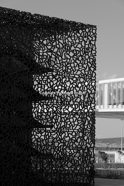 France.  Marseille. MUCEM  museum / Musée des Civilisations de l'Europe et de la Méditerranée in the port of Marseille