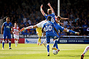 Synchronised football from Peterborough United midfielder Mark O'Hara (8) and Peterborough United midfielder Siriki Dembele (10) during the EFL Sky Bet League 1 match between Peterborough United and Doncaster Rovers at London Road, Peterborough, England on 1 September 2018.