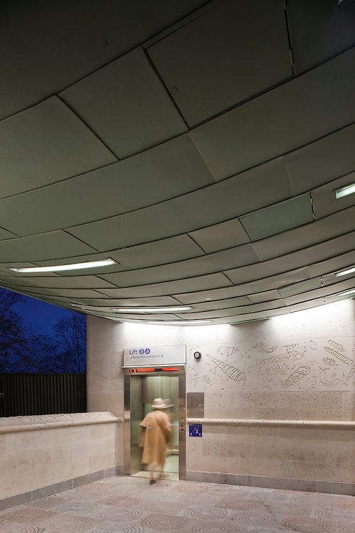 Green Park Underground station, green park , london by Feilden and Mawson architects