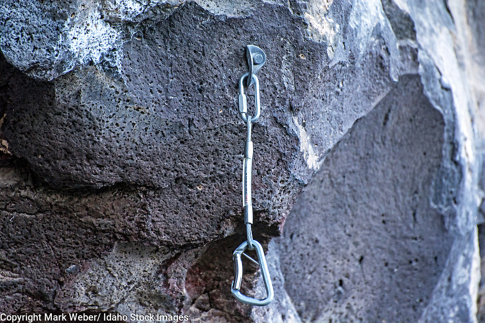 Twin Falls, Perma Draws hanging in The Alcove climbing area which is located at Dierkes Lake near the city of Twin Falls in southern Idaho
