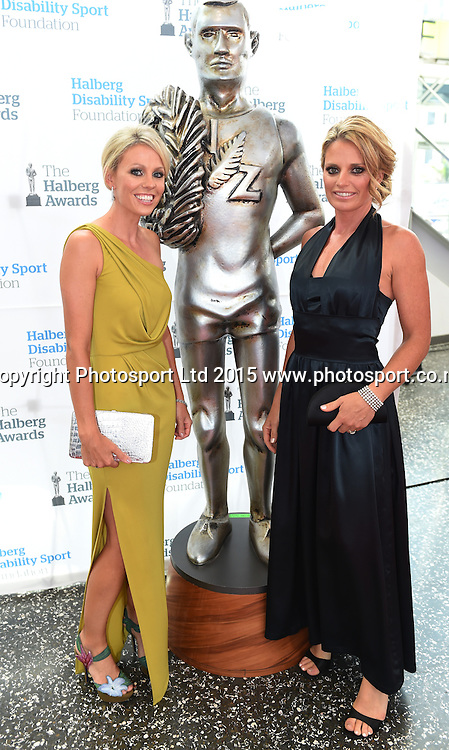Nicole Pedin and Fiona Castle pose for a picture on the red carpet at the 52nd Halberg Awards. Halberg Disability Sport Foundation. Vector Arena, Auckland, New Zealand. Wednesday 11 February 2015. Copyright Photo: Andrew Cornaga / www.photosport.co.nz
