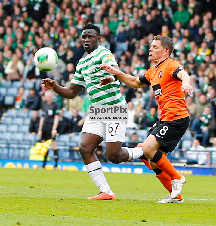 Dundee United v Celtic Scottish Cup Semi Final..Victor Wanyama and John Rankin go for a high ball.....(c) STEPHEN LAWSON | StockPix.eu