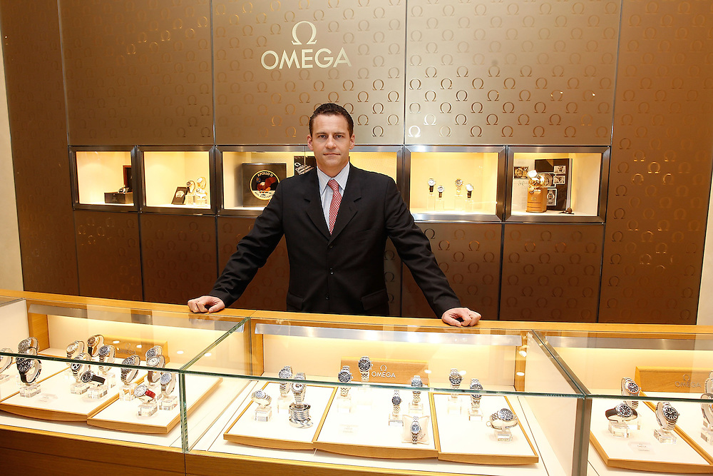 NEW YORK - MARCH 04: OMEGA President US Gregory Swift poses for a photo at the Omega Flagship Boutique during the Olympic Medalist and OMEGA Ambassador Apolo Anton Ohno visits the Omega Flagship Boutique on March 4, 2010 in New York City.  (Photo by Joe Kohen/Getty Images for OMEGA)