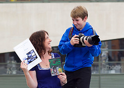 No Fee for Repro: 02/07/2012.?RAP for YAP?.Young film maker Daniel Delaney, aged 16 years from Cavan who have both availed of the YAP (Youth Advocates Programme) Ireland intensive support service is pictured launching the YAP Ireland Annual Report with CEO Siobhan O'Dwyer. Pic Andres Poveda..The YAP Ireland Annual Report showed that 475 young people and families received an intensive support service in 2011 and some of outcomes data showed that 82% showed an improvement in risky behaviour and 79% in school attendance.