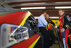 July 20, 2018 - Loudon, New Hampshire, United States of America - Jamie McMurray (1) hangs out in the garage during practice for the Foxwoods Resort Casino 301 at New Hampshire Motor Speedway in Loudon, New Hampshire. (Credit Image: © Justin R. Noe Asp Inc/ASP via ZUMA Wire)